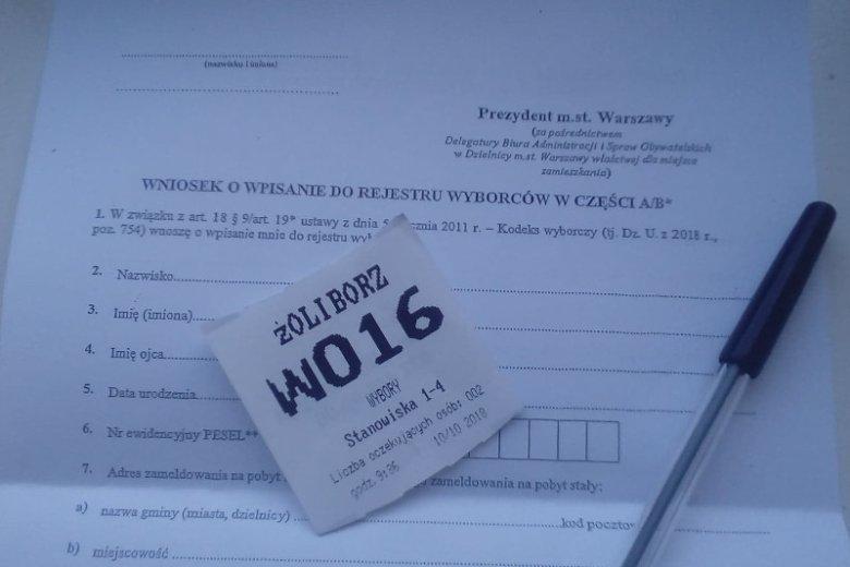 Wniosek o wpisanie do rejestru wyborców to nie wszystko – trzeba jeszcze udowodnić, że się faktycznie mieszka w Warszawie.