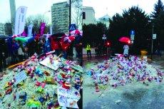 Czy na manifestacji ZNP znieważono polską flagę?