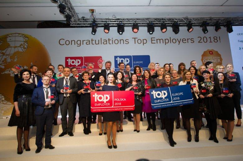 Na początku lutego tego roku odbyła się gala wieńcząca dziewiątą już edycję programu Top Employers Polska. Certyfikat przeznaczony dla najlepszych pracodawców otrzymało 48 działających w naszym kraju organizacji.