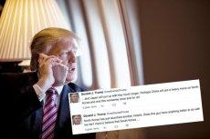 Donald Trump apeluje do Chin, żeby zakończyły problemy jakie stwarza Korea Północna.