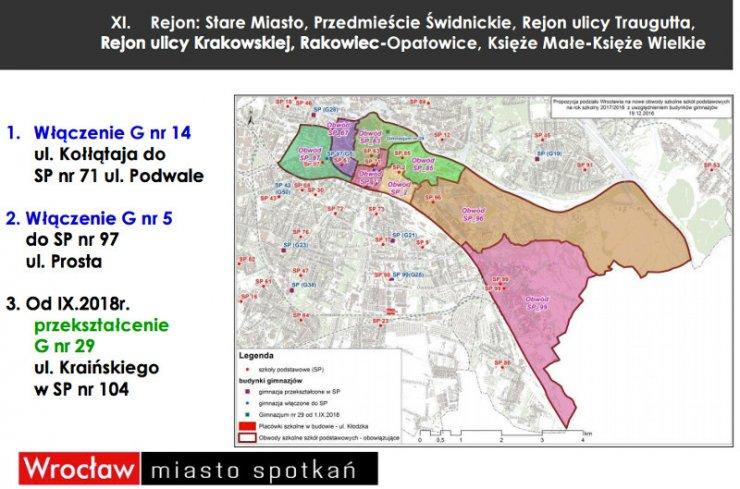 Władze Wrocławia zamieściły już w internecie mapy prezentujące, jak ma wyglądać siatka szkół od nowego roku szkolnego.