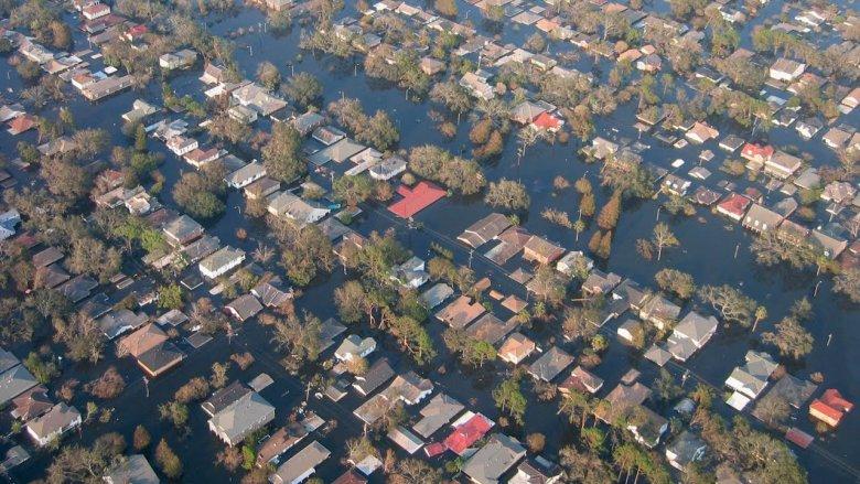Przez Katrinę tysiące ludzie ludzi straciło dach nad głową.