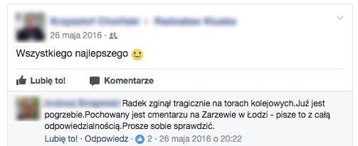 Facebook nie wie, że ktoś zmarł i dalej wysyła powiadomienia.