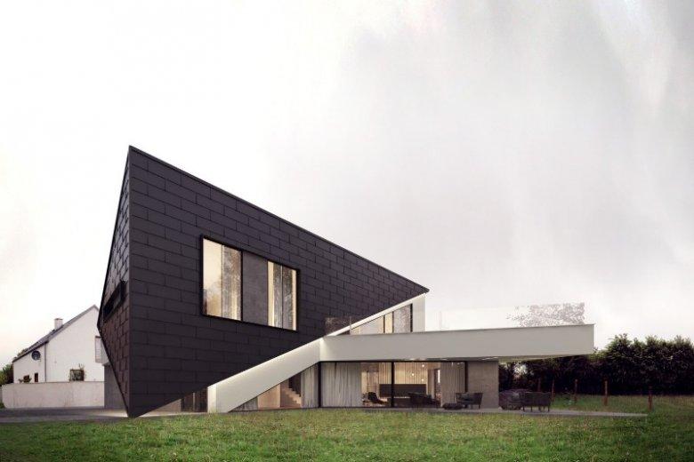 Dom w Szczecinie, projektu Marcina Tomaszewskiego, wyróżnia się formą - składa się jedynie z trójkątnych elementów