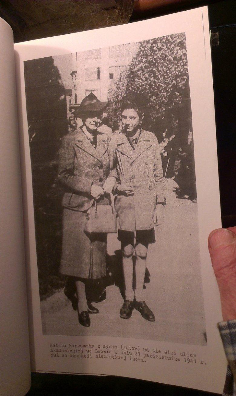 Janusz Horzemski z mamą Haliną