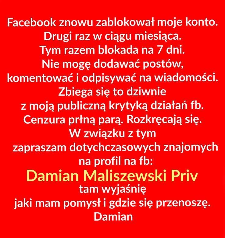 Damian Maliszewski archiwum prywatne