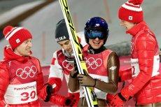 Kamil Stoch na igrzyskach olimpijskich w Pjongczangu.