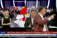 """Członek Konfederacji próbował zakłócić program """"Studio Polska"""" w TVP Info."""