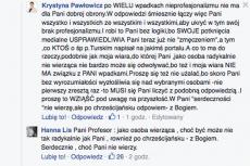 Krystyna Pawłowicz porozmawiała na Facebooku z HannąLis