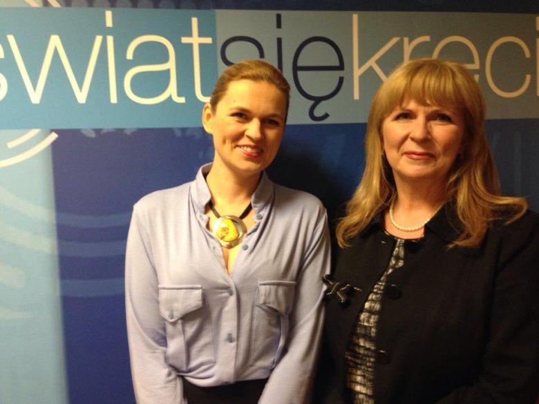 Barbara Nowacka i Małgorzata Gosiewska w programie Świat się kręci
