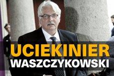 Witold Waszczykowski uciekł z posiedzenia komisji