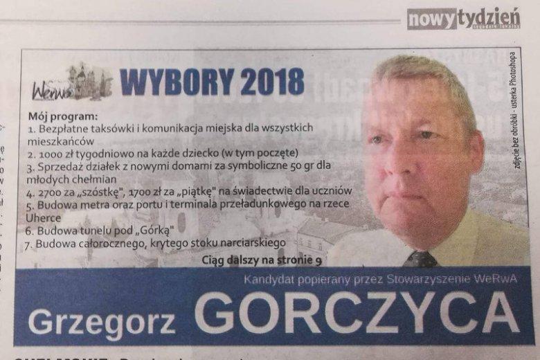 Wybory Samorządowe 2018 Kampania Wyborcza Prezydenta Miasta