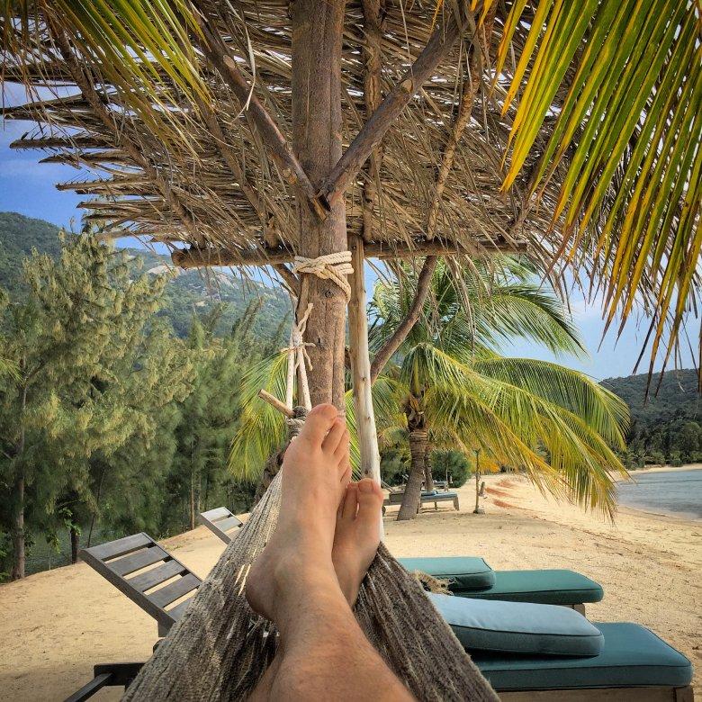 Sjesta na plaży w An Lam Villas Ninh Van Bay