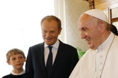 Papież poznał rodzinę Donalda Tuska.