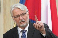 """Szef MSZ Witold Waszczykowski apeluje do Polaków: """"Dzisiaj ojczyzna woła i apeluje o powroty""""."""