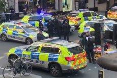 Policja ewakuowała wszystkich z budynku Sony.