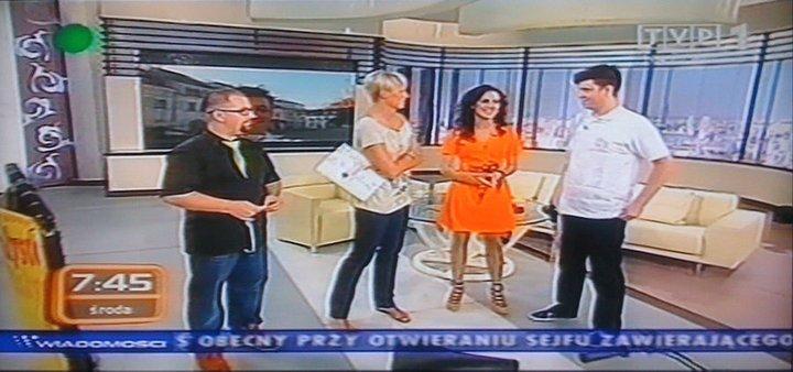 """""""Kawa czy Herbata"""" w TVP1. Od lewej: Przemek Sejwa, Odeta Moro, Elwira Horosz, Grzegorz Grzybek"""