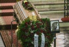 Zdjęcie z pogrzebu 21-latka z Konina, który zginął od strzału policjanta.