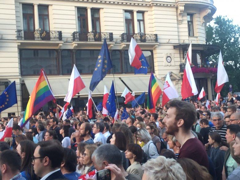 Zdjęcie z demonstracji w dniu 20 lipca 2017r.