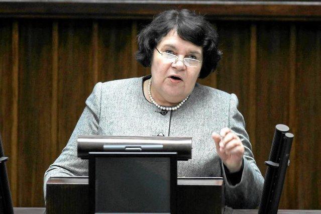 Posłanka Anna Sobecka z PiS reprezentowała wnioskodawców projektu uchwały o objawieniach fatimskich