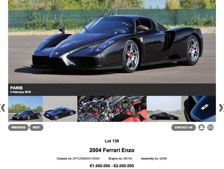 Ferrari Enzo zostało naprawione i pomalowane na czarno. Aż trudno uwierzyć, że uległo wypadkowi przy prędkości 260 km/h.