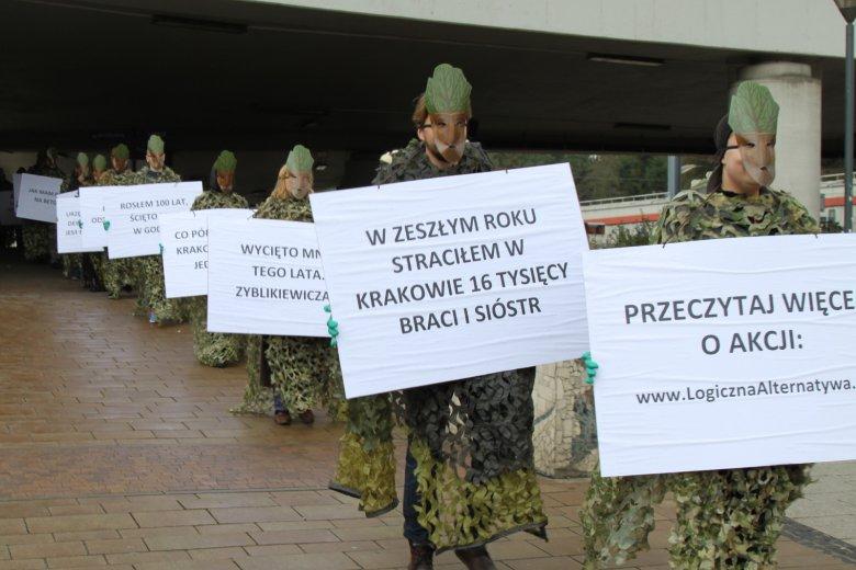 Dzień  Drzewa w Krakowie - happening Logicznej Alternatywy (10.10.2016)