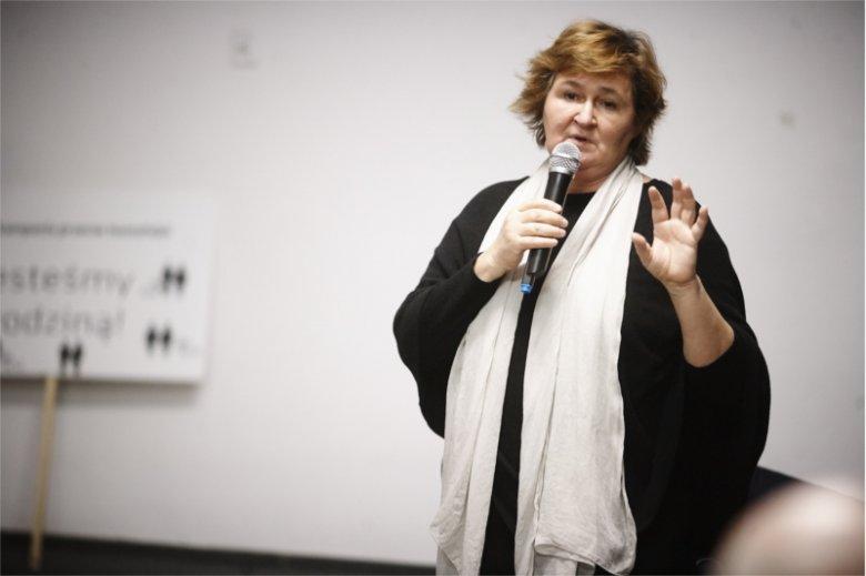Profesor Magdalena Środa jest jedną z sygnatariuszy listu do rektora Pałysa.
