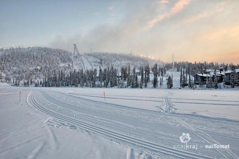 Widok na skocznię narciarską w Ruce