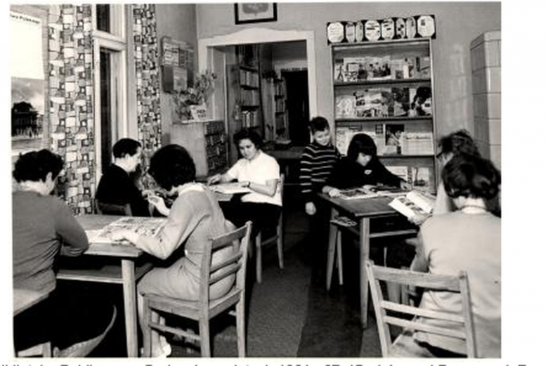 Biblioteka w Grabowie, lata 60-te.
