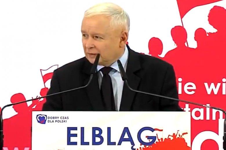 Jarosław Kaczyński bronił w Elblągu pomysłu przekopania Mierzei Wiślanej, stwierdził, że od tego zależy nasza suwerenność.