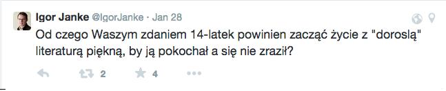 Igor Janke pyta, twitter odpowiada.