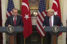 Trump rozmawiał przez telefon z Erdoganem o Syrii.