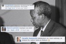 W polskim internecie pojawiły się ostre komentarze dotyczące śmierci Nelsona Mandeli.