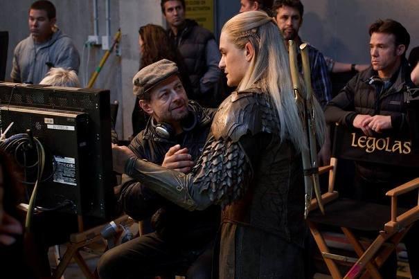 Orlando Bloom i reżyser drugiej ekipy, Andy Serkis (który grał też Golluma).