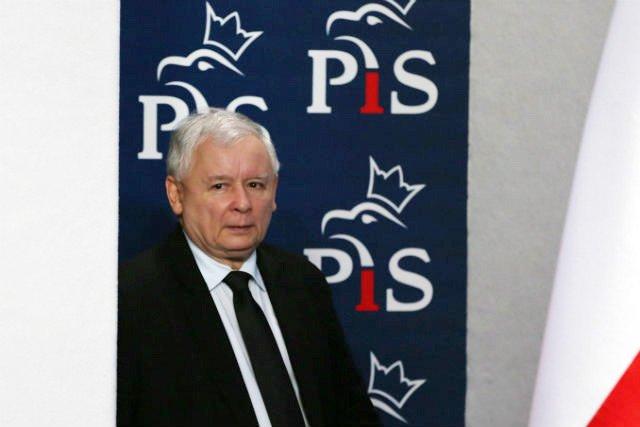 Jarosław Kaczyński w siedzibie Prawa i Sprawiedliwości przy ul. Nowogrodzkiej.