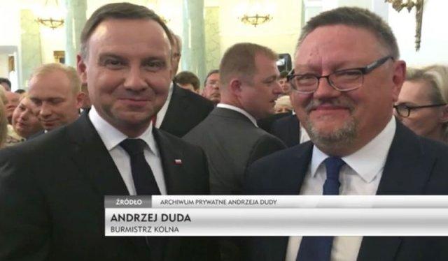 Prezydent Andrzej Duda i burmistrz Kolna Andrzej Duda