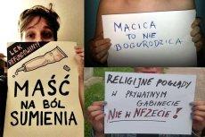 """""""Opieka medyczna, a nie watykańska"""" - tego żąda na Facebooku już kilka tysięcy Polek i Polaków."""