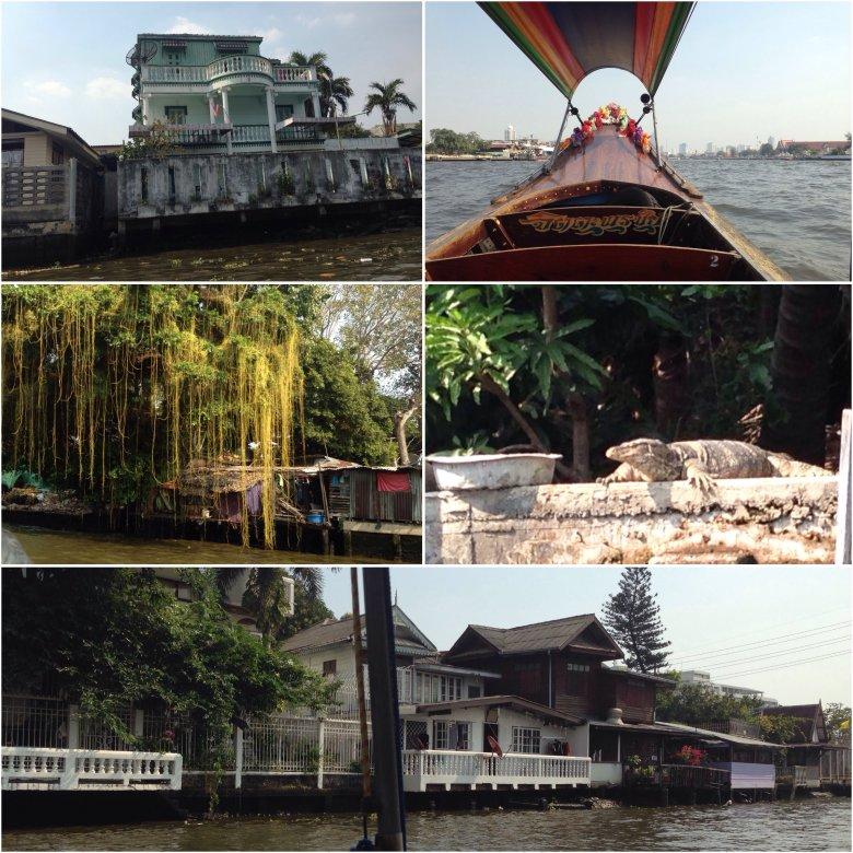Rejs khlongami i rzeką Chao Phraya. Bangkok/Tajlandia