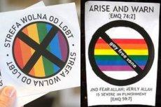 """""""Gazeta Polska"""" zainspirowała się tworząc swoje homofobiczne naklejkami pomysłem radykalnych muzułmanów, którzy rozklejali łudząco podobne w Londynie w 2011 r."""