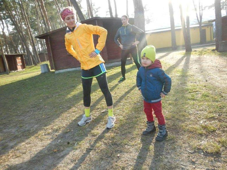 Z dzieckiem na treningu :)