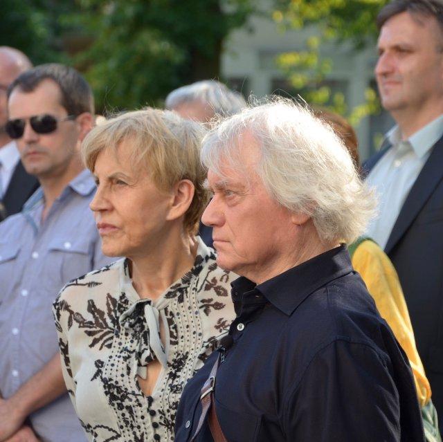 Jerzy Maksymiuk z żoną