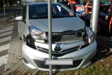 Zdjęcie, które zrobiła straż miejska na miejscu wypadku.