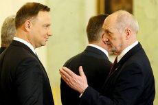 Czy prezydent Andrzej Duda dociska ministra obrony narodowej bardziej niż na to wyglądało?