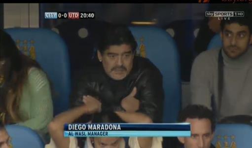 Menadżer dubajskiej drużyny - Diego Maradona.