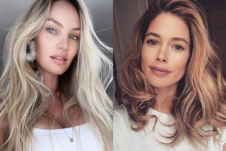 Candice Swanepoel i Doutzen Kroes na co dzień są fankami naturalnego makijażu.