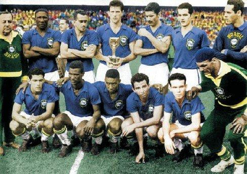Reprezentacja Brazylii po finale MŚ 1958