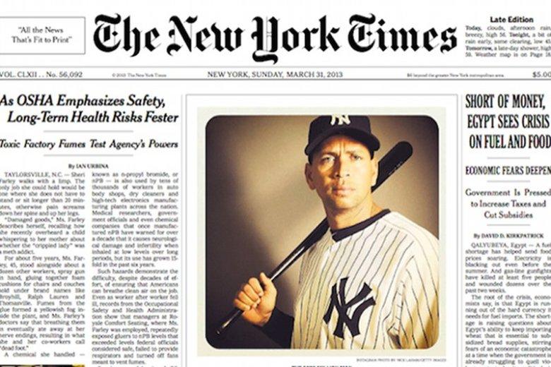 New York Times opublikował na okładce zdjęcie z Instagramu
