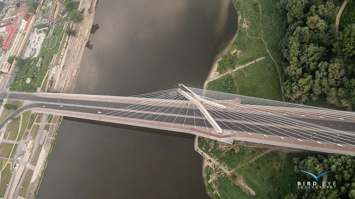 Most Świętokrzyski  - zdjęcie z paralotni.