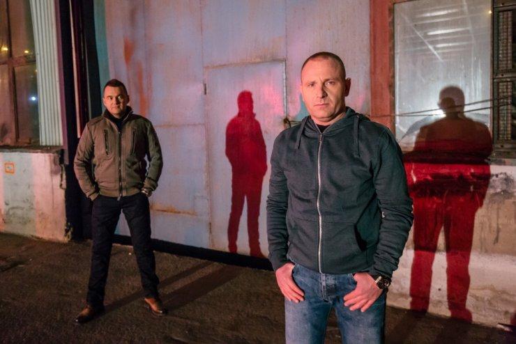 Policjant - Marcin (Elvis) z lewej i Marek (Fryzjer) z prawej.