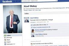 Józef Oleksy od dziś jest jednym z użytkowników Facebooka
